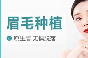 福州海峡植发医院种眉毛贵不贵 种植会留疤吗